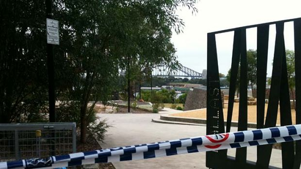 The body of a young man was found in Ballast Point Park yesterday.