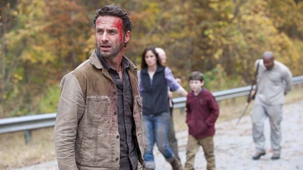 Exhilarating horror ... Andrew Lincoln as Rick Grimes in <em>The Walking Dead</em>.