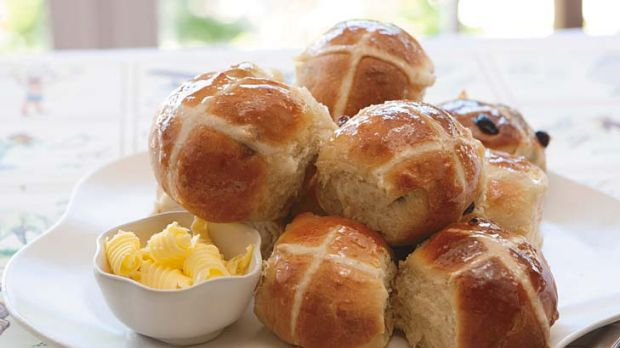 Prize winners ... Wailyn Mar's hot cross buns, from the Blue Ribbon Recipes cookbook.