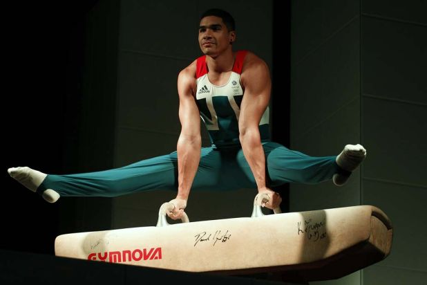 Gymnast Louis Smith poses wearing the new Team GB kit.