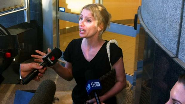 Logan City councillor Hajnal Black speaks with the media after being granted bail at the Brisbane Magistrate's Court.