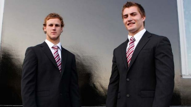Star duo … Manly are hopeful Kieran Foran, right, will follow the lead of his halves partner, Daly Cherry-Evans, ...