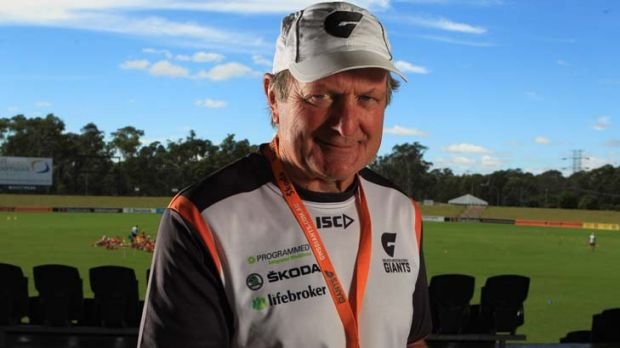 Front and centre … Greater Western Sydney coach Kevin Sheedy at Blacktown International Sportspark this week as ...