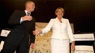 Campbell Newman and Anna Bligh at the Brisbane Convention Centre.Photo: Glenn Hunt(NO CAPTION INFORMATION PROVIDED)