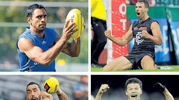 Victoria's four (clockwise from top left): Nathan Lovett-Murray, Andrew Walker, Sam Sheldon and Adam Goodes.
