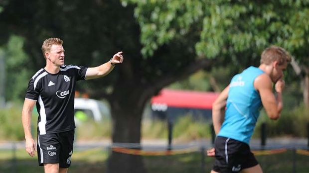Pointed: Nathan Buckley?s man-management style is taking shape.