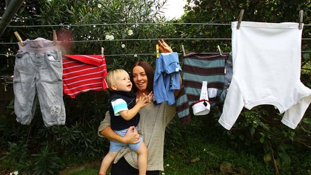 Helping hand ... Belinda Pleffer with her 18-month-old charge Anton. Belinda works for Anton's mother, Lise Rawlings, ...