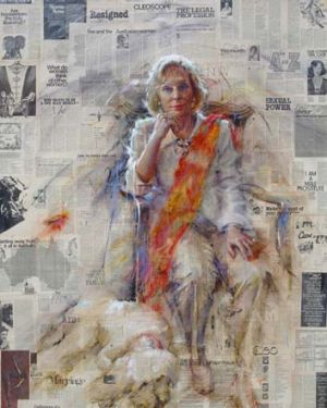 Passionate wordsmith ... Ita Buttrose, as depicted by her former employee Barbara Tyson.