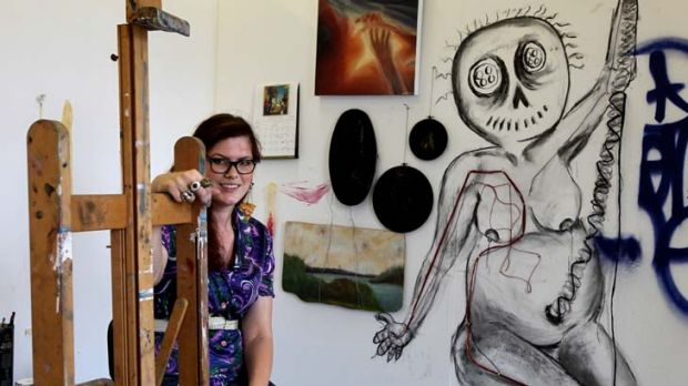 Work in progress … art student Rosemarie Bilyk, 23, has just received a $1200 bursary from St George Community ...