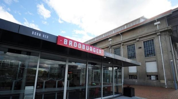 Breakfast, lunch and dinner ... the new Brodburger Cafe opens tomorrow.