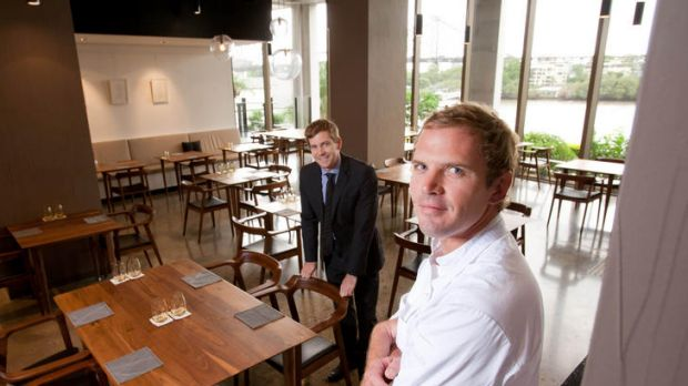 Bright outlook ... co-owners Cameron Murchison and chef Ryan Squire.