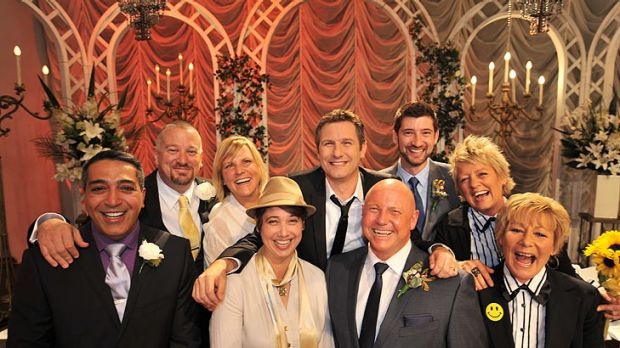 Gay couples tie the knot on the ABC's <i>Adam Hills in Gordon Street Tonight</i>.