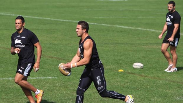 Focus … Sam Burgess, centre, is hoping Souths can get back to the winner's circle.