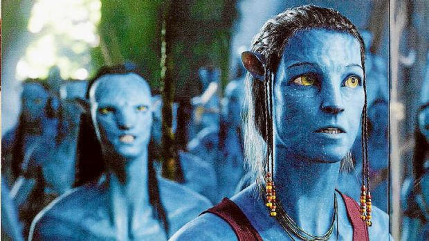 Weaver as a Na'vi character in Avatar, which had a 'save the planet' message.