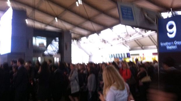 The crush was even worse at Southern Cross station this morning.