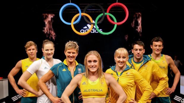 Kitted out ... Australian athletes model their new outfits.