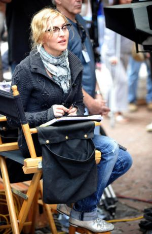 "Behind the scenes … Madonna directing ""W.E."" in 2010."