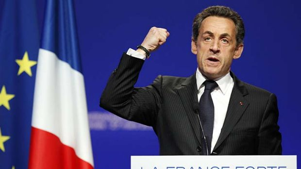 France's President and UMP party candidate for the 2012 French presidential elections Nicolas Sarkozy.