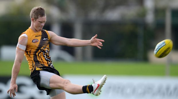 Richmond training at Punt Road Oval ahead of their 1st round match against Carlton at The MCG tomorrow night.
