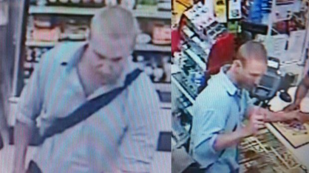 Police want to speak to this man about the robbery.