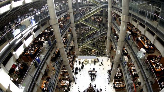 Lloyd's headquarters in London ... the insurer paid out $1.07 for every $1 it took in premiums last year.