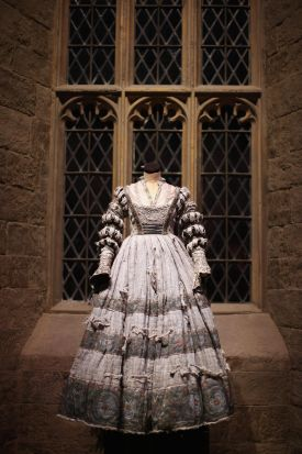 A costume used in the Harry Potter films are displayed. March 23, 2012.
