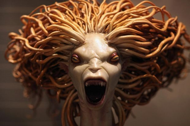 A model of a mermaid used in Harry Potter and the Goblet of Fire is displayed.  March 23, 2012.