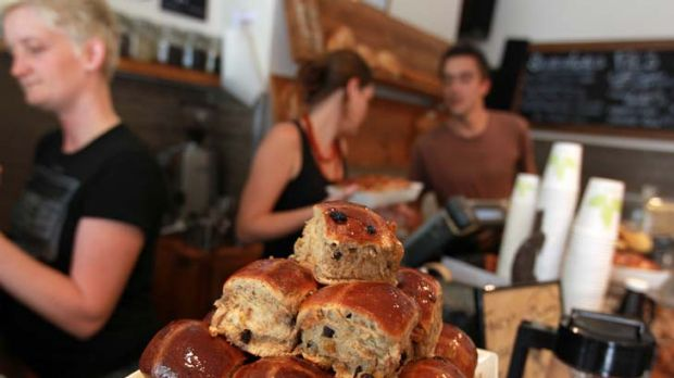 On the nose ... Black Star Pastry in Newtown makes hot cross buns with a hint of church.