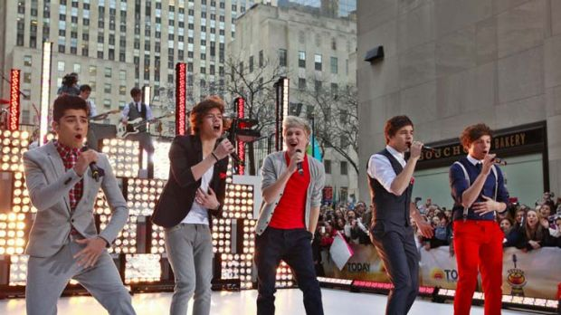 Teen boy band One Direction.