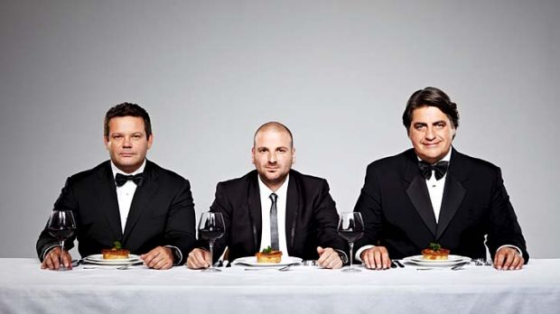 Big serve ... what surprises will <em>MasterChef</em> judges Gary Mehigan, George Calombaris and Matt Preston have for ...