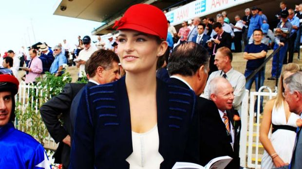 ''Not a model'' … racing ambassador Bridget Abbott.