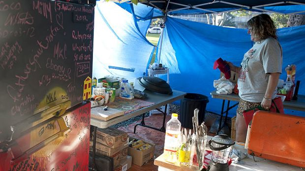 The kitchen at the Musgrave Park Tent Embassy.