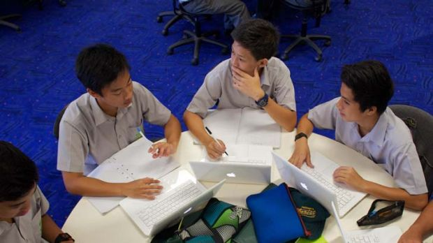 Connected ... students at Parramatta Marist High engage in collaborative, project-based learning, an approach that has ...