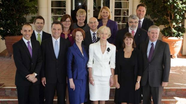 """This is not the time for turning"" ... Gillard's cabinet stands strong after the latest Herald/ Nielsen poll revealed ..."