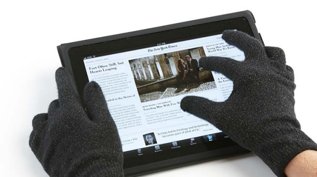 Touchscreen gloves, such as these Agloves, have silver knitted into them, improving touchscreen performance.