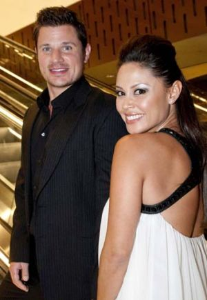 Nick and Vanessa Lachey at the Star.