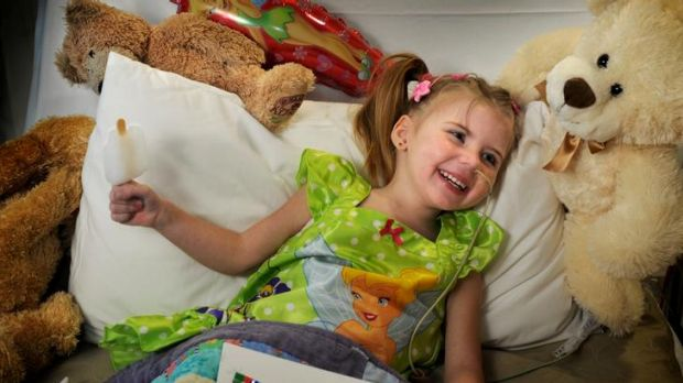 Montana Drew, 4, is  in the Royal Children's Hospital after having a five-cent coin removed from her oesophagus in a ...