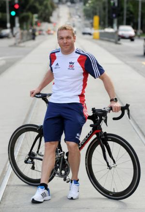 Rolling into town: Sir Chris Hoy, the most successful Olympic male cyclist ever, is competing in Melbourne.
