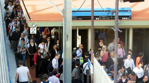 Waiting for myki: Commuters pass through barriers at Laverton Station where a 16-fold increase in use of the cards has ...