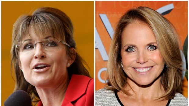 Rivals ... Sarah Palin, left, and Katie Couric.
