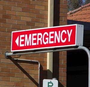 A group of emergency doctors says that the phone line, if anything, may be increasing the strain on emergency departments.