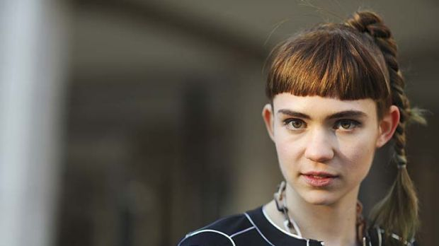 Perfect fit … Claire Boucher, aka Grimes, is defining her own look.