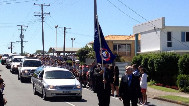 The funeral procession for Matthew Barclay.