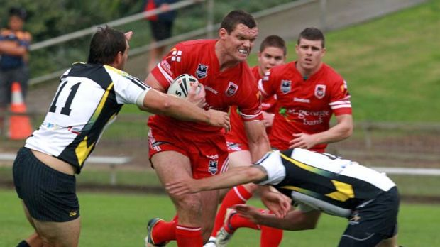 New club … Ray Cashmere playing for the Cutters.