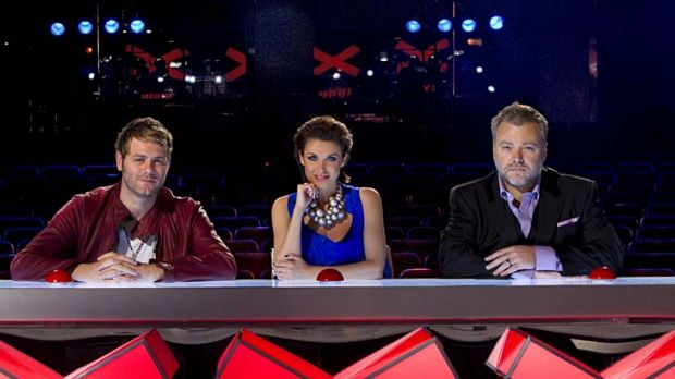 Returning to screens ... <em>Australia's Got Talent</em> judges Brian McFadden, Dannii Minogue and Kyle Sandilands.