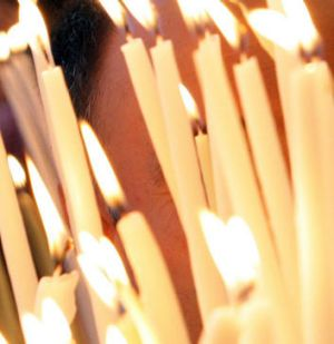The blaze is believed to have been caused by a candle left burning as part of traditional Easter festivities.