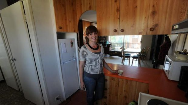 Young Canberran Eline Martinsen in her newly purchased unit in Queanbeyan.