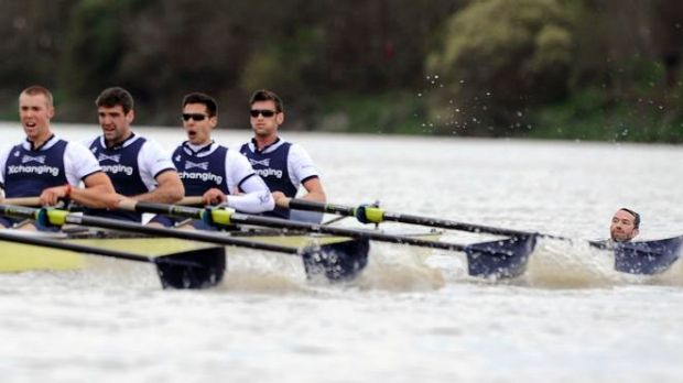 Trenton Oldfield disrupts the historic rowing race.