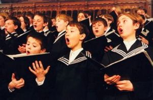 Members of the St Thomas Boys Choir in Leipzig.