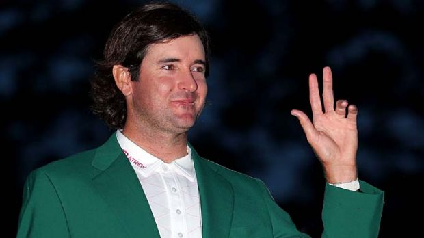 Green jacket ... Bubba Watson has won the 2012 Masters.